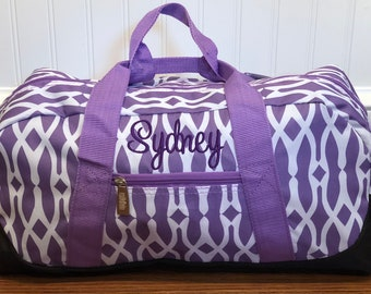 Personalized Girls Luggage Custom Duffel Bag Sleepover Overnight Baby Shower Gift Carry On Travel