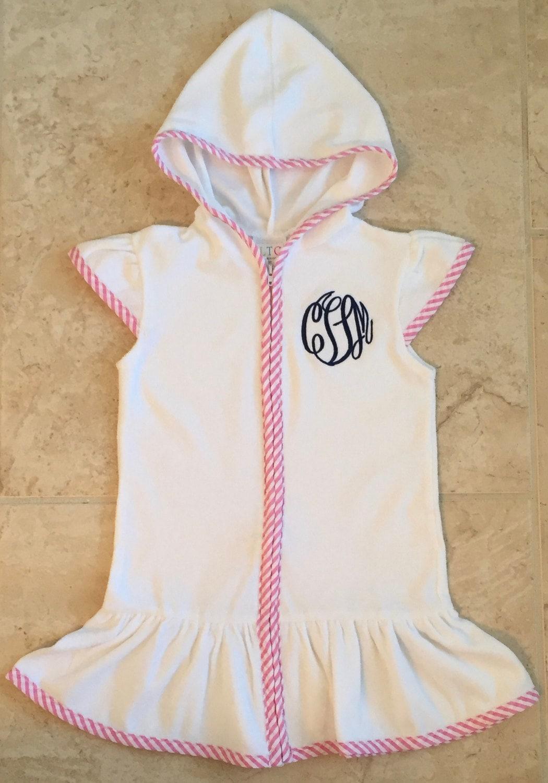 Girls Bathing Suit Cover Up Girls Pool Robe Swim Robe Etsy