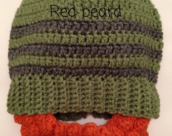 5ffaa1af07d Crochet Beard Hat! Made to Order (choose your color   size) - FREE shipping