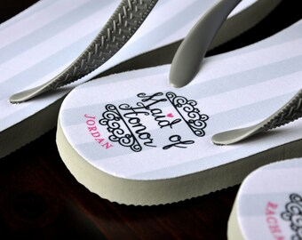 1ca00e6e6d608 Wedding Flip Flops Bride Personalized Custom Flip Flops