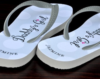 79846e15a Custom Wedding Flip Flops Bride Flip Flops Custom Flip