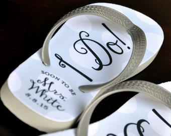 e25036bd8 Just married flip flops
