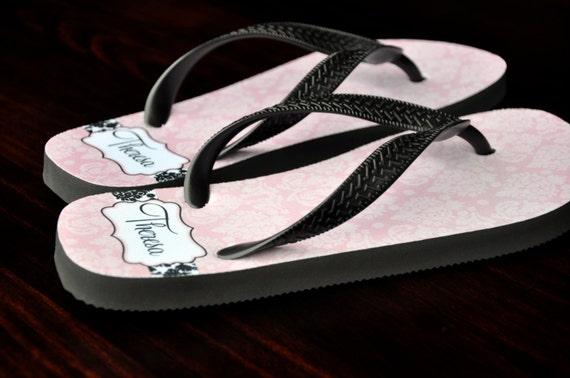e1d7ef0ed Personalized Flip Flops Custom Wedding Flip Flops Wedding