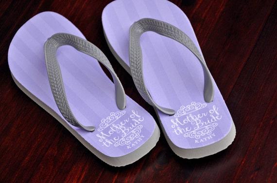 9b6b22546 Custom Flip Flops Mother of the Bride Bridal Party Flip