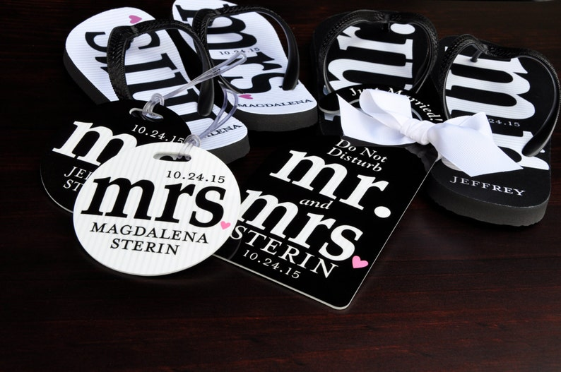 c3b2460b30cca MR and MRS Bridal Flip Flops Personalized Mr and Mrs