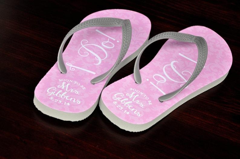 2f2dae909 Custom Wedding Flip Flops Personalized Name Sandals Bridal