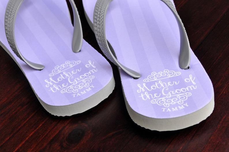ce6a80ff2 Custom Flip Flops Mother of the Groom Bridal Flip Flops