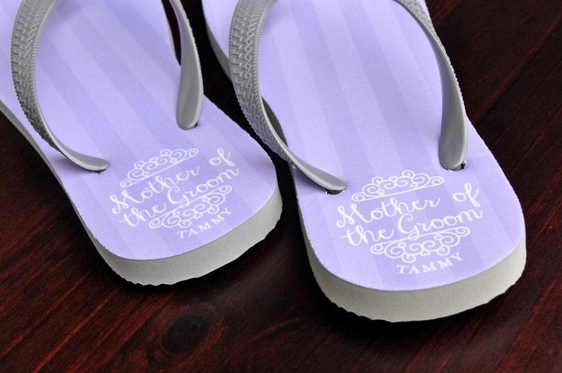 ef65b8861db6 Custom Flip Flops Mother of the Groom Bridal Flip Flops