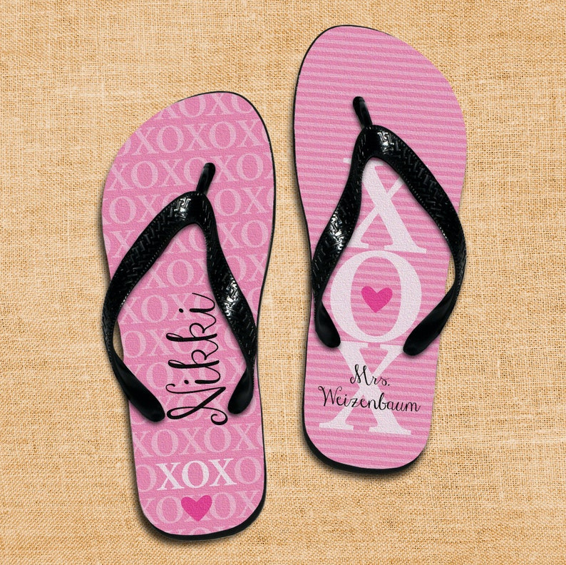 da63fbd330ac Personalized Flip Flops Custom Wedding Flip Flops Wedding