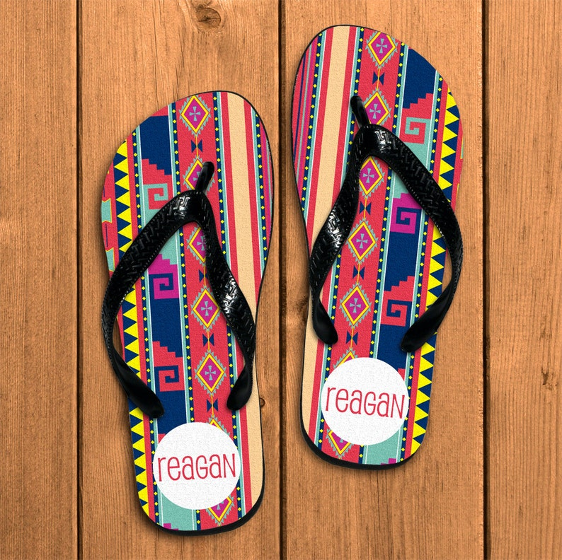 d4e175d70909 Custom Name Flip Flops Personalized Flip Flops Custom Flip