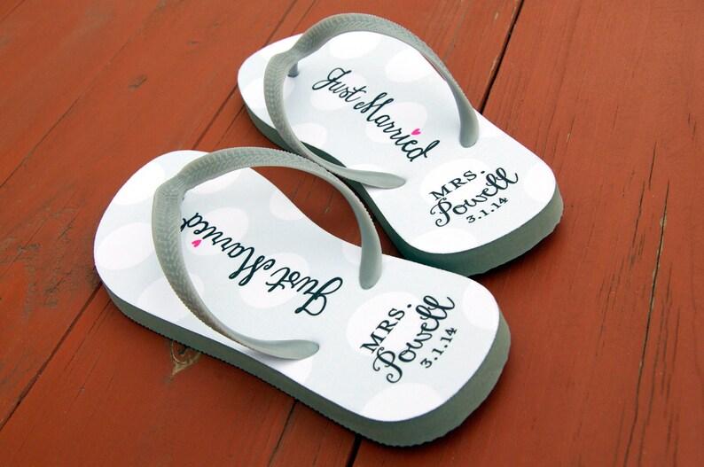 b21fd8b85e60e Custom Wedding Flip Flops Bride Flip Flops Bridal Flip