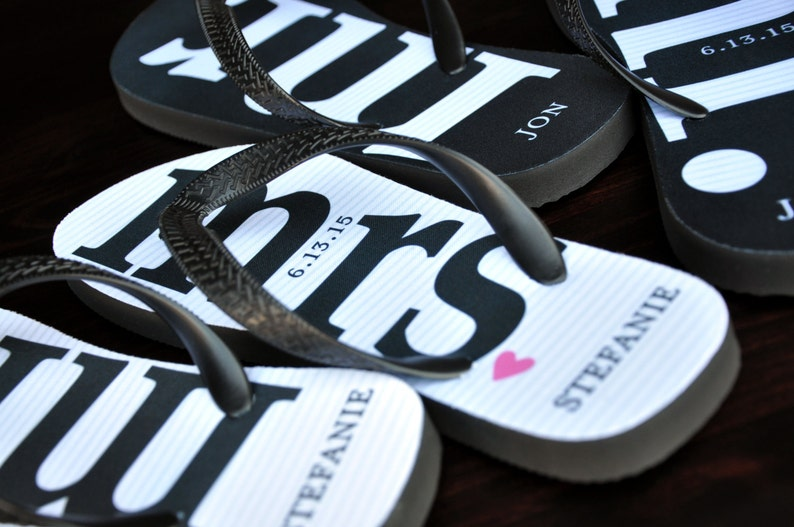 d9c8cd0b97641 MR and MRS Bridal Flip Flops Personalized Just Married