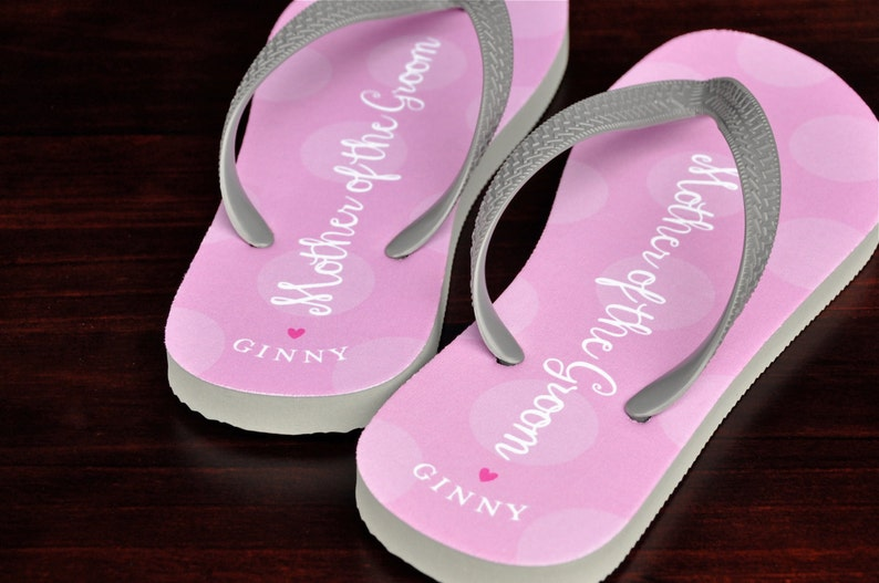 aa7101c4f88a Personalized Flip Flops Mother of the Groom Custom Wedding