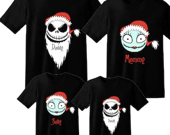 disney family shirts christmas shirts the nightmare before christmas jack sally disney vacation