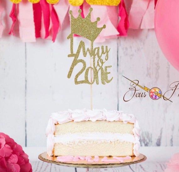 Princess Cake Topper Center Piece Half Birthday 6 Months
