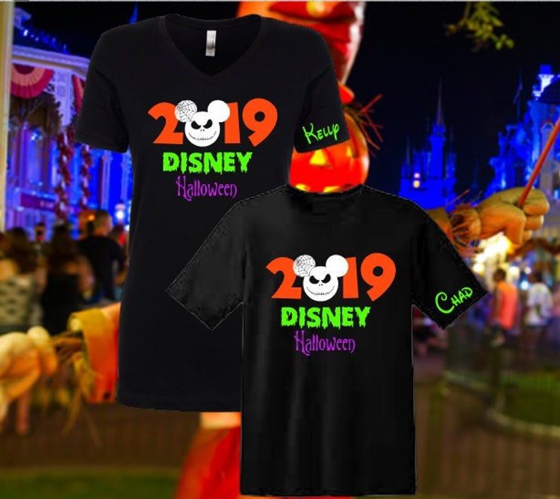 Disney Halloween Shirts 2019.Disney Halloween Shirt Disney Mickey S Not So Scary Halloween Party Matching Shirts Jack 2019 Nightmare Before Christmas