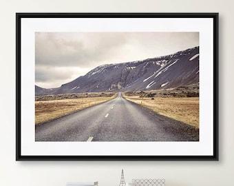 Landscape Photography, Iceland Print, Mountain Photography, Travel Photography, Rustic Wall Art