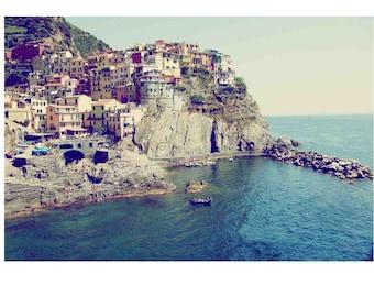 Italy Photography, Cinque Terre Print, Italy Art, Colorful Italian City, Travel Photography,  Manarola, Landscape Photography