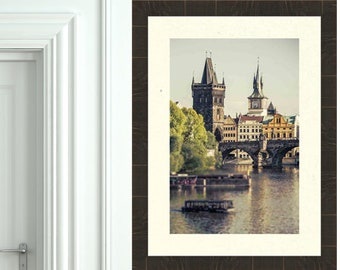 Prague Photography, Prague Print, Charles Bridge, Gothic Home Decor, Travel Print, Fine Art Photography