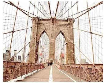 Brooklyn Bridge Print, New York City Print, Brooklyn Bridge Art, NYC Wall Art, NYC Print