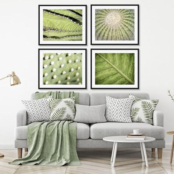 Natur-Druck-Set, grüne Wand-Kunst-Serie, Wohnzimmer Dekor, Satz von 4  Drucke, ruhige Schlafzimmer Dekor
