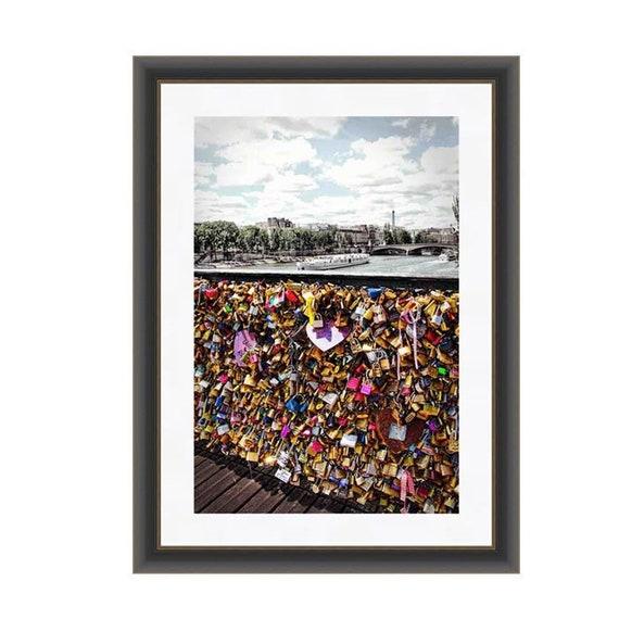 Paris Love Locks Bridge Eiffel Tower Paris Photography Paris Print Pont Des Arts Colorful Wall Art