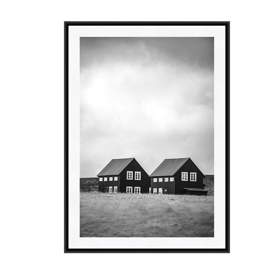 Magnificent Iceland Print Iceland Photography Black And White Art Bw Photography Travel Photography Iceland Art Landscape Print Two Houses Download Free Architecture Designs Xoliawazosbritishbridgeorg