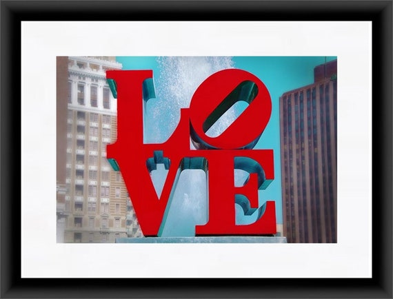 Philly Art Philadelphia Love Statue by Robert Indiana Christmas Tree Ornament