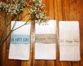 Happy Tears Tissue wrap - you pick colors/font!