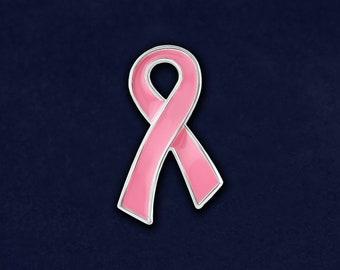 cb8fb18c436 Large Flat Pink Ribbon Breast Cancer Lapel Pin (RE-P-25-1)