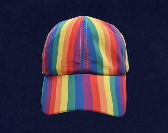 26f5f0e3bb0e1 Pack Of 12 Gay Pride Rainbow Striped Baseball Hats In a Bag (12 Hats)(HAT -02-RB)