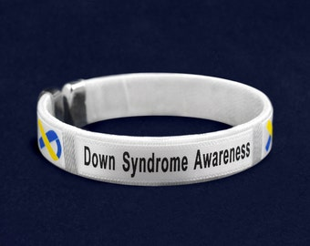 25 Down Syndrome Awareness Bangle Bracelets in a Bag (25 Bracelets) (B-22-10DS)
