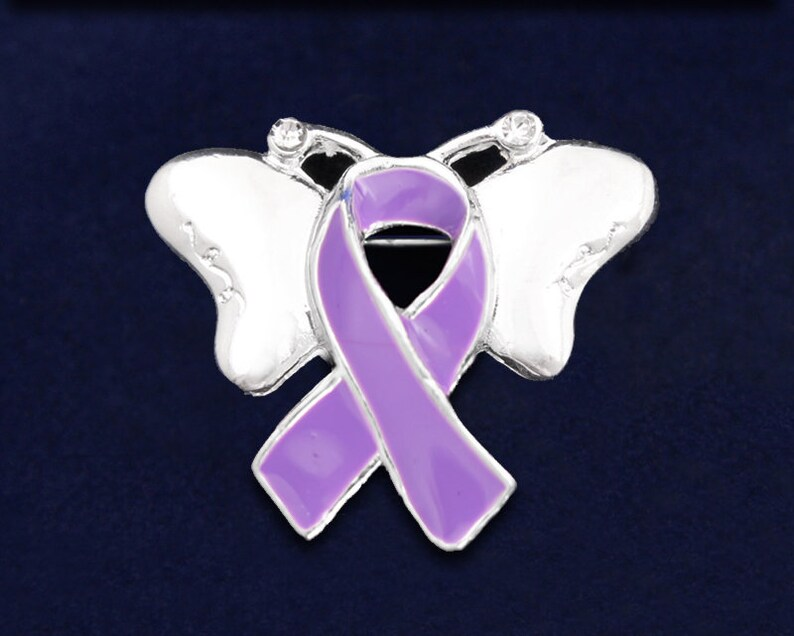Fundraising For A Cause Large Pink /& Purple /& Teal Ribbon Charm in a Bag 1 Charm - Retail