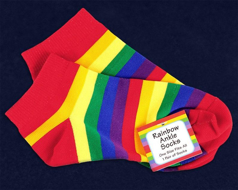 25 Pairs Of Rainbow Ankle Socks 25 Pairs SOC-RB