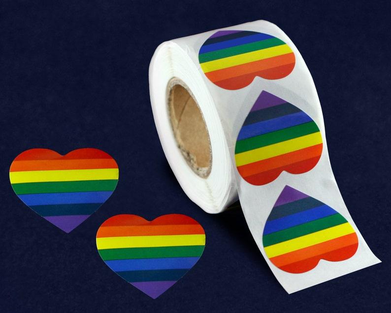 Gay Pride Rainbow Awareness Ribbons 250 Ribbons with Safety Pins
