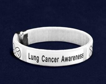 25 Lung Cancer Awareness Bangle Bracelets in a Bag (25 Bracelets) (B-22-15LC)