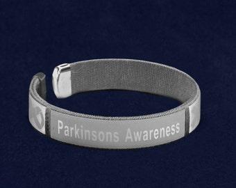 Parkinson's Disease Awareness Bangle Bracelet (1 Bracelet - Retail) (RE-B-22-7PK)
