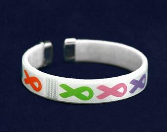 25 Multi Colored Ribbon Bangle Bracelets in a Bag (25 Bracelets) (B-22-MC)