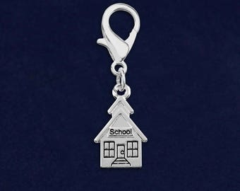 School House Hanging Charm in a Bag (1 Hanging Charm - Retail) (RE- HC-01-TS)