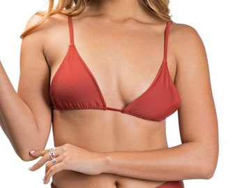 Triangle Bikini Top - Burnt Sienna - Chavy
