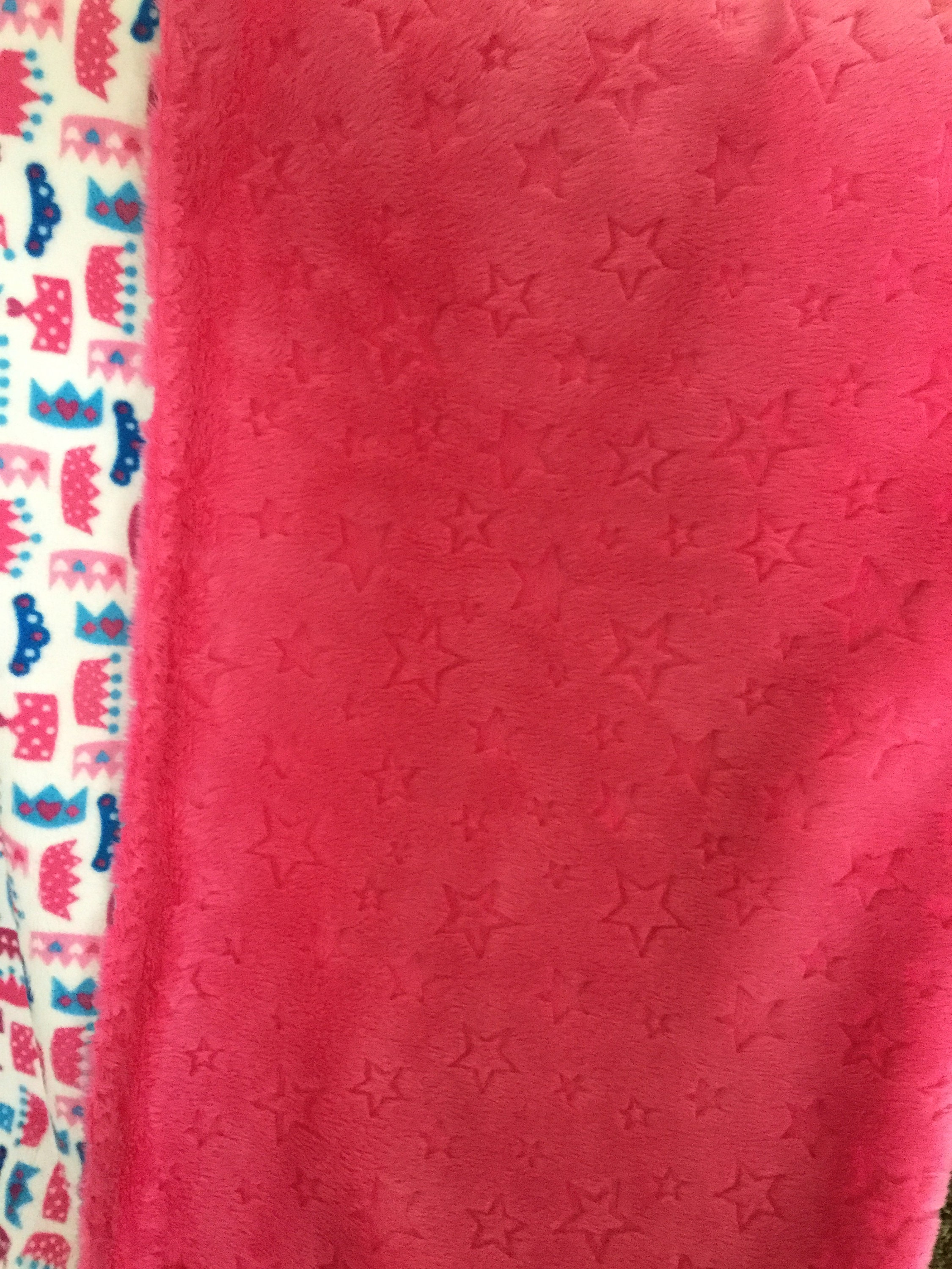 Minky Throw Large One Yard Adult/Teen/Child Blanket Cuddle Soft Pretty Princess - Cuddle Soft Stars Doubled Sided Soft Minky Blanket