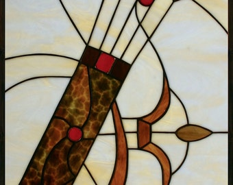 Stained glass panel - Archery