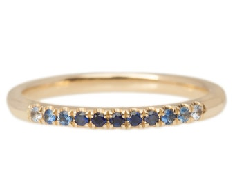 Ombre Sapphire Band