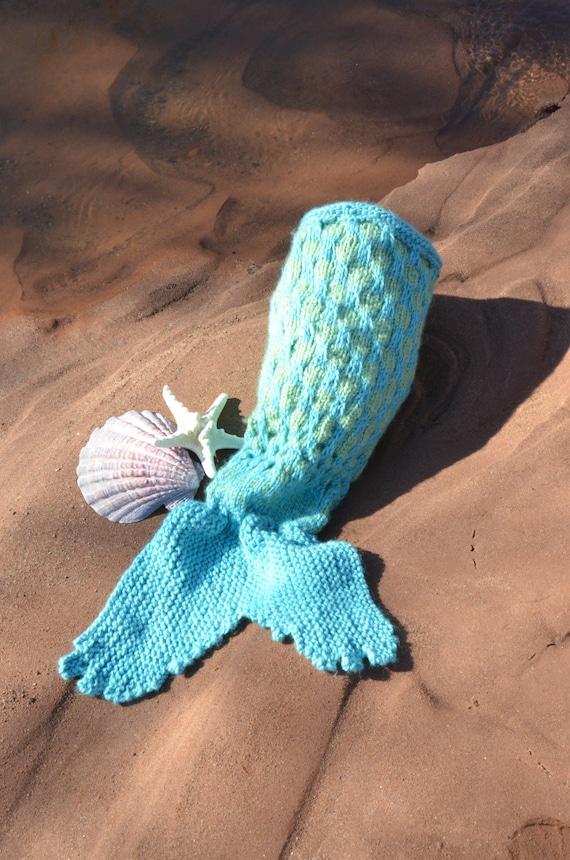 Instrucciones para tejer sirena bebe cola Knit sirena | Etsy