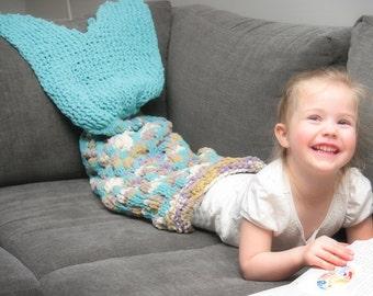Knitting Instructions - Mermaid Tail - Mermaid Blanket - Knit Mermaid - Mermaid Pattern - Kid - Child - PDF - Instant Download