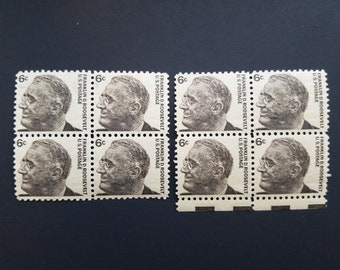 1966 Prominent Americans Series Eight 8 6 Cent Franklin D Roosevelt Stamps Plate No 1284 All Original