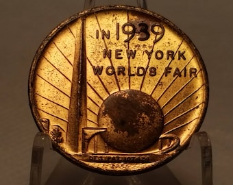 1939 New York World's Fair Souvenir of the 150th Anniversary of George Washington's Inauguration Token