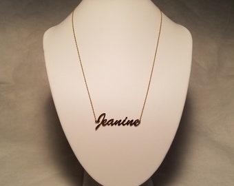 "1980's 18.5"" Princess Length 1/20 14KG ""Jeanine"" Necklace"