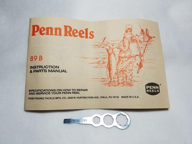penn fishing reels model 89b instruction \u0026 parts manual and etsyReel Parts Diagram As Well Penn Senator Reels Parts Diagram On Penn #15