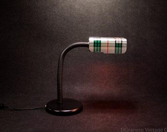 Italian TARGETTI DESK LAMP- Gift- Vintage desk lamp - Gooseneck lamp - Industrial lamp - Adjustable lamp - Drafting Lamp